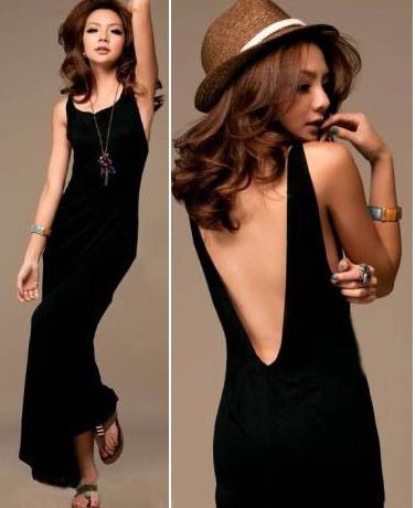 kjoler med bar ryg