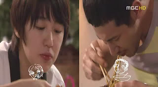screenshot from Coffee Prince of Eun Chan and Han Gyul