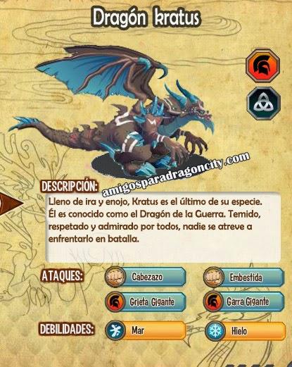 imagen de las caracteristicas del dragon kratus