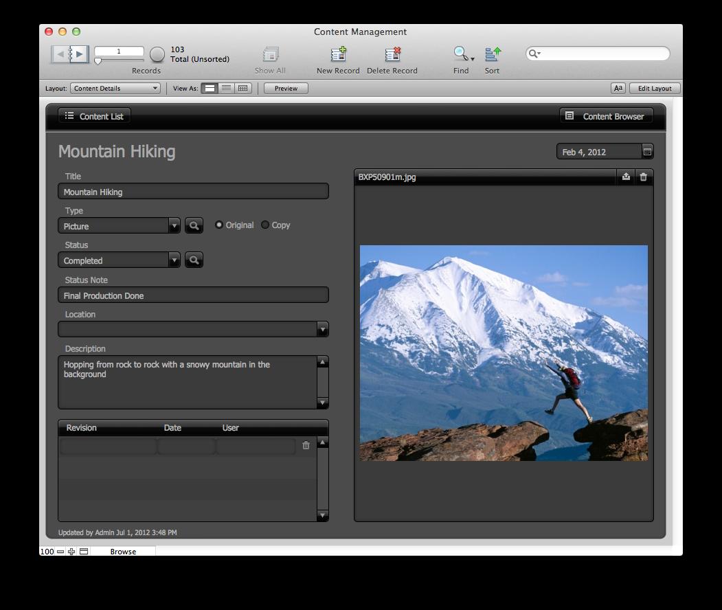 The Mac Office Content Management Filemaker Pro 12 Starter Solution