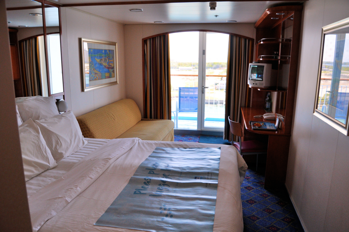 Harbor light adventures travel and tours ship inspection for Balcony stateroom