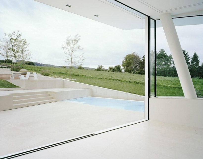 Terrace of Villa Freundorf by Project A01 Architects