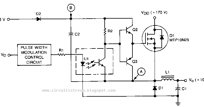 build a high voltage bucking regulator circuit diagram