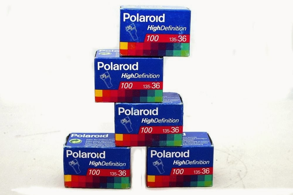 5pcs Films Polaroid High Definition 36exp 100 ASA ISO Expired 1996 Color Film