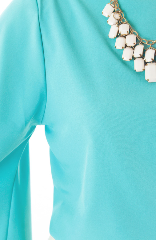 Carefree Butterfly Long Sleeve Blouse – Tiffany Blue