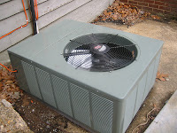 outside condenser unit