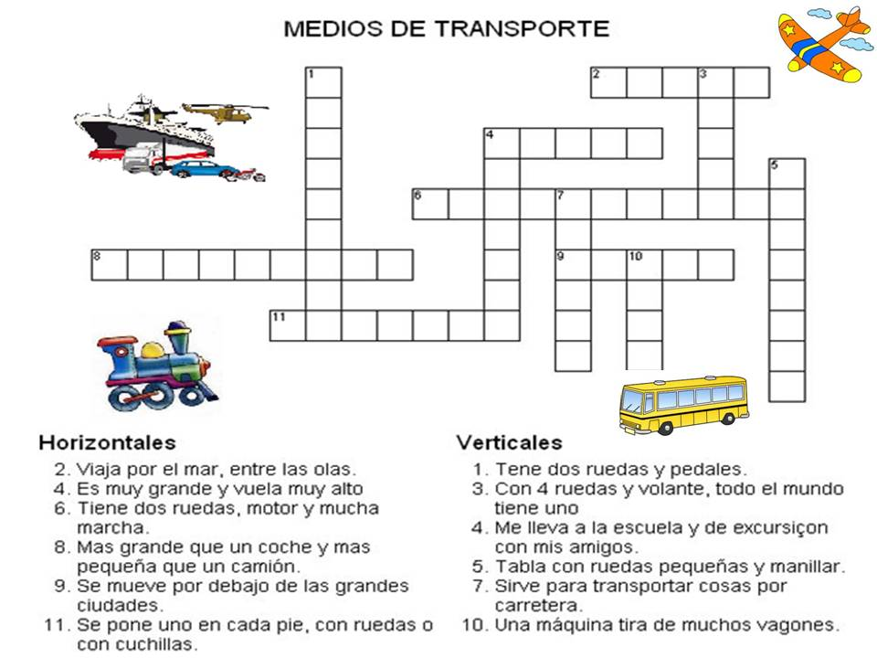 Un Mundo Interactivo de los Medios de Transporte: A jugar!!!