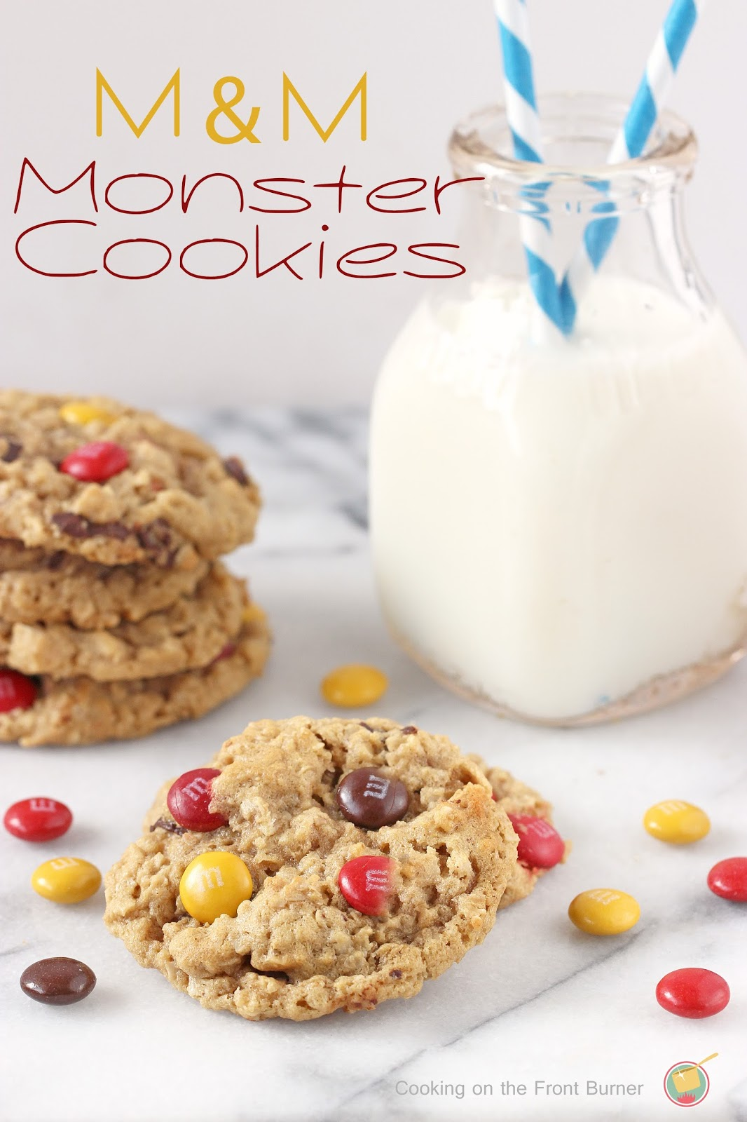 M&M Monster Cookies | Cooking on the Front Burner