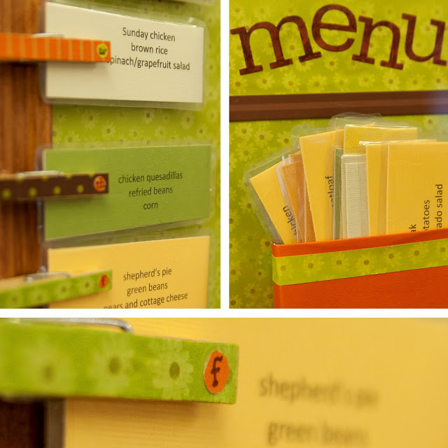 Tablón de menú en Recicla Inventa
