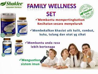 family wellness set; shaklee vitamin untuk keluarga; shaklee labuan