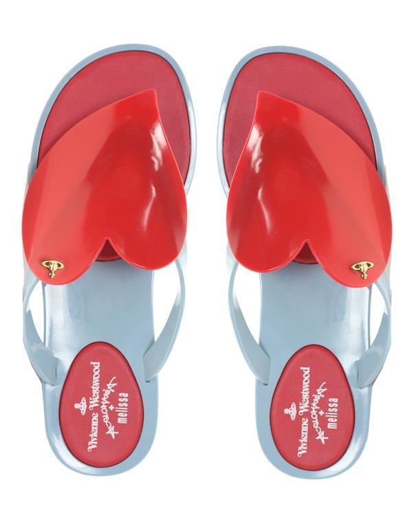 Vivienne Westwood Melissa Heart Flip Flops