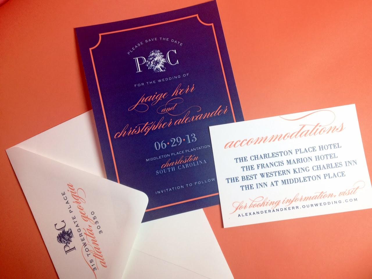 Charleston Wedding save the date