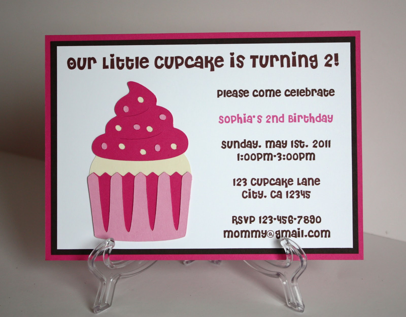5M Creations: Girl Themes Birthday Party Invitations