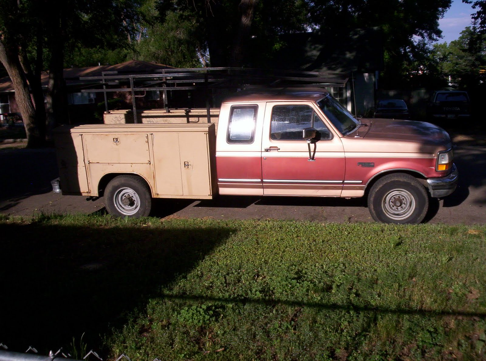 brucker brothers 1994 ford f250 v 8 auto 2wd 8 39 utility bed with rack. Black Bedroom Furniture Sets. Home Design Ideas