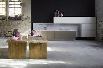 modern kitchen design ideas - wooden island