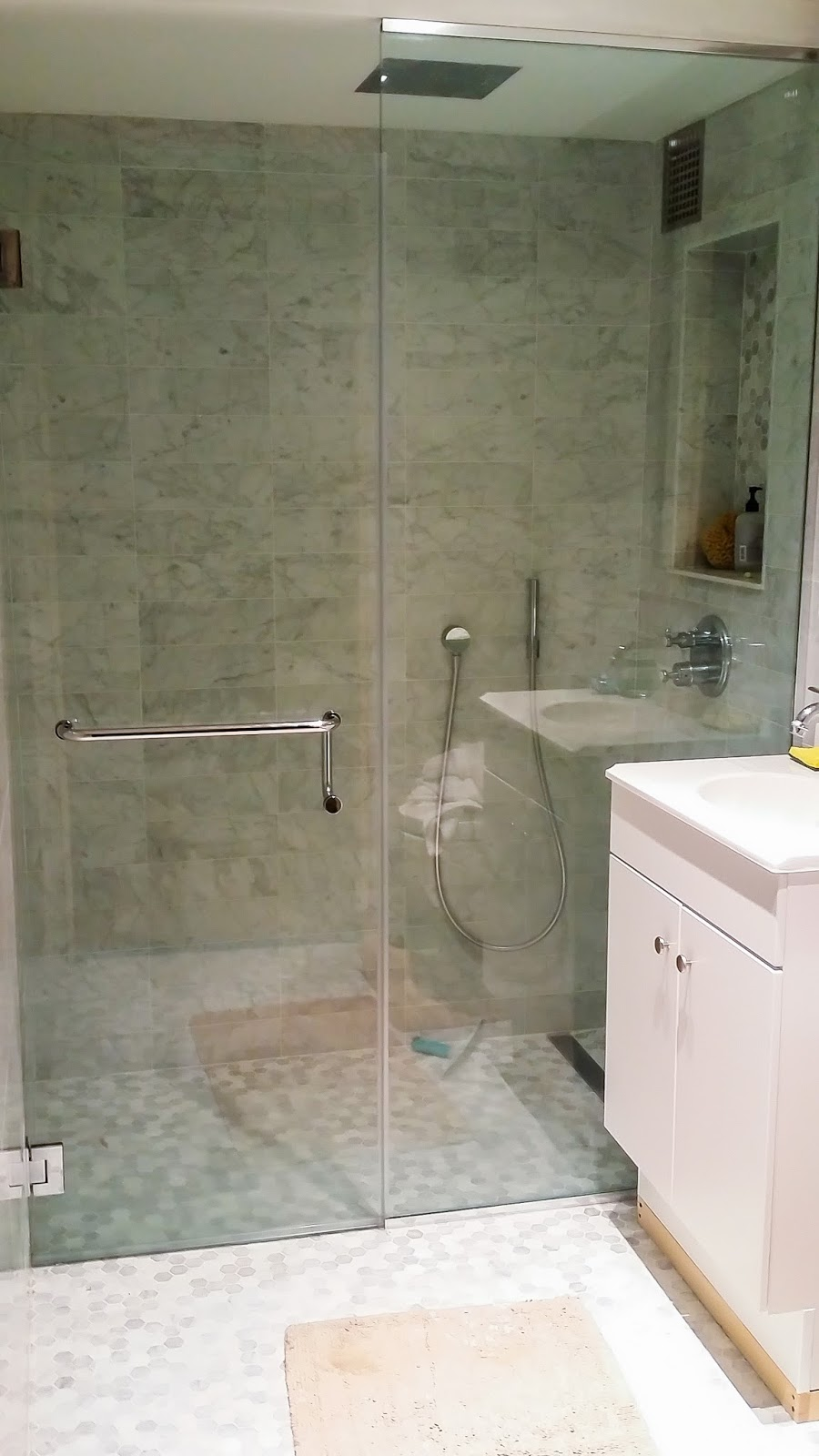 using glass block for bathroom showers cheap shower door ny
