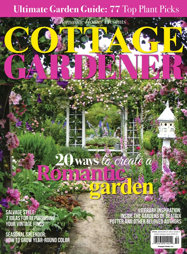 I have been featured in romantic homes cottage gardener Spring cottage magazine