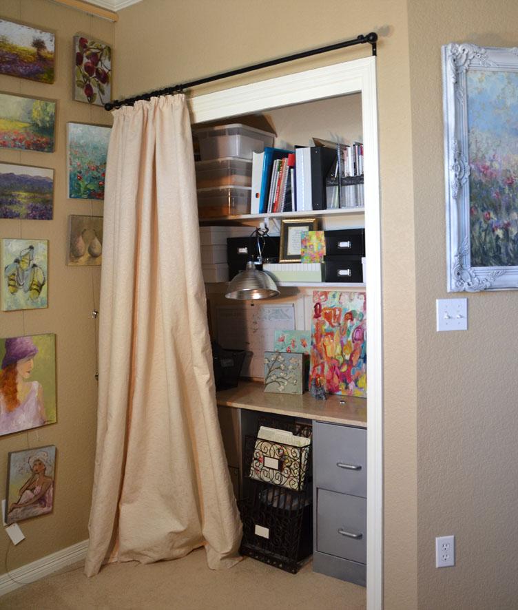 Before Closeup Of Heavily Glazed Cabinet Doors Builder: LaurenFaythe: Home Office Closet
