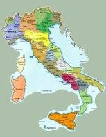 Mappa Cartina Italia Geografica Regionale della Citta