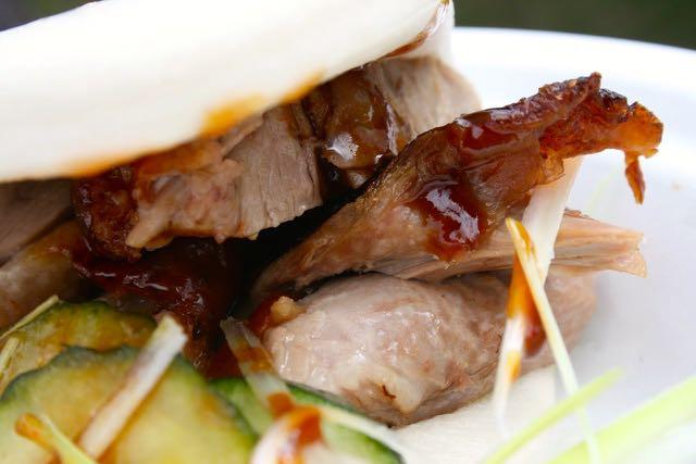 Mantou Bun filled with roast duck