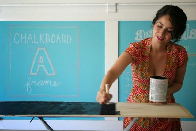 DIY Chalkboard Sandwich Board // Step 2