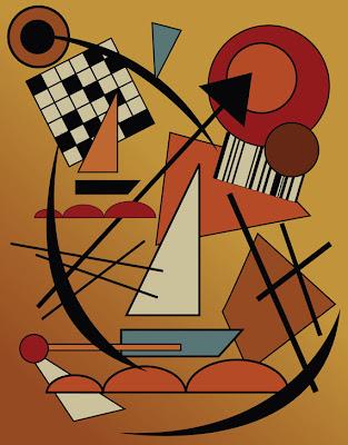 kandinsky style illustration made in illustrator