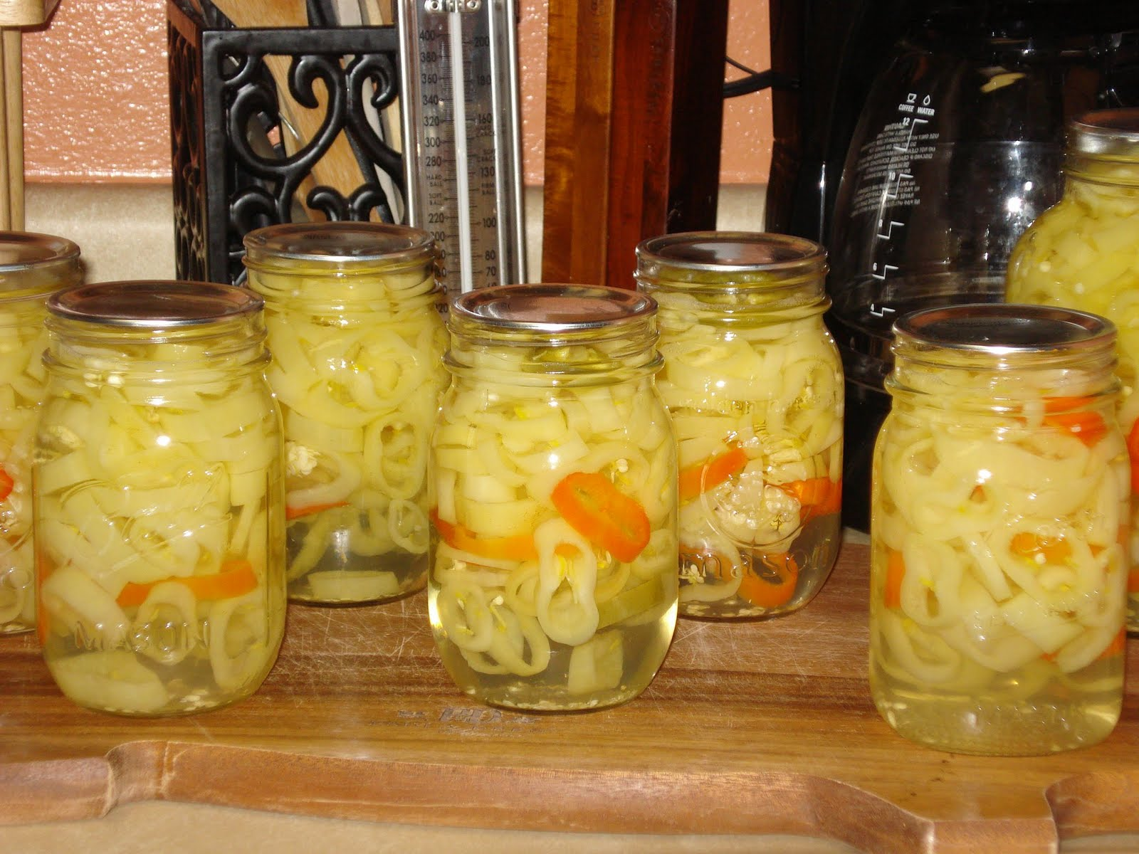 Lacie's Pickled Banana Peppers!