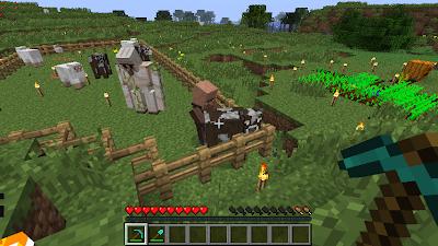 Un screenshot de Minecraft.