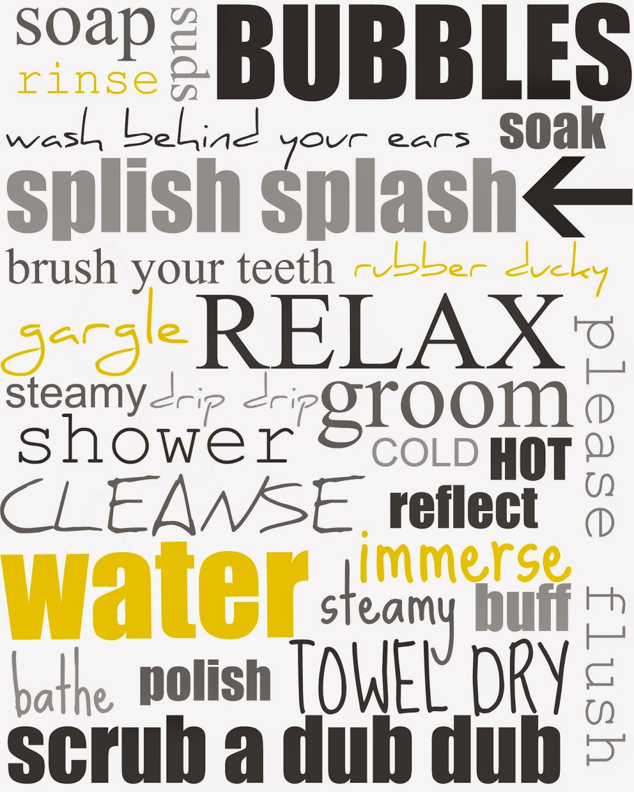 Clean image intended for printable bathroom quotes