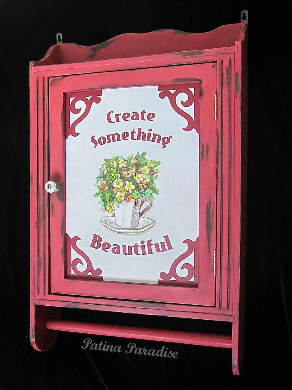 Plain Cabinet becomes Beautiful Craft Storage