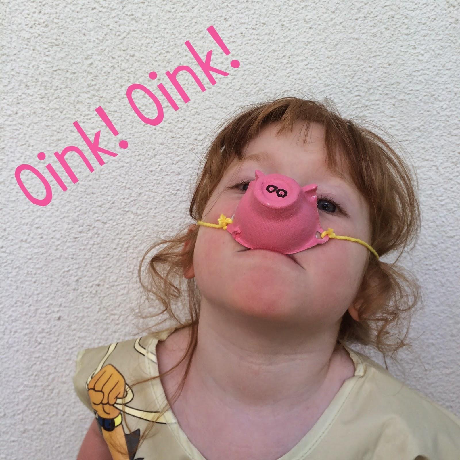 Super easy egg carton pig snout