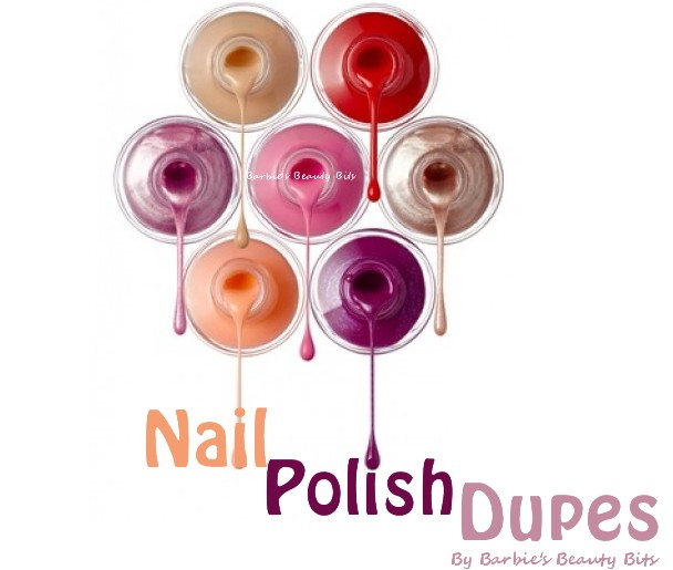 O.P.I. nail polish dupes 2013 by Barbie's Beauty Bits
