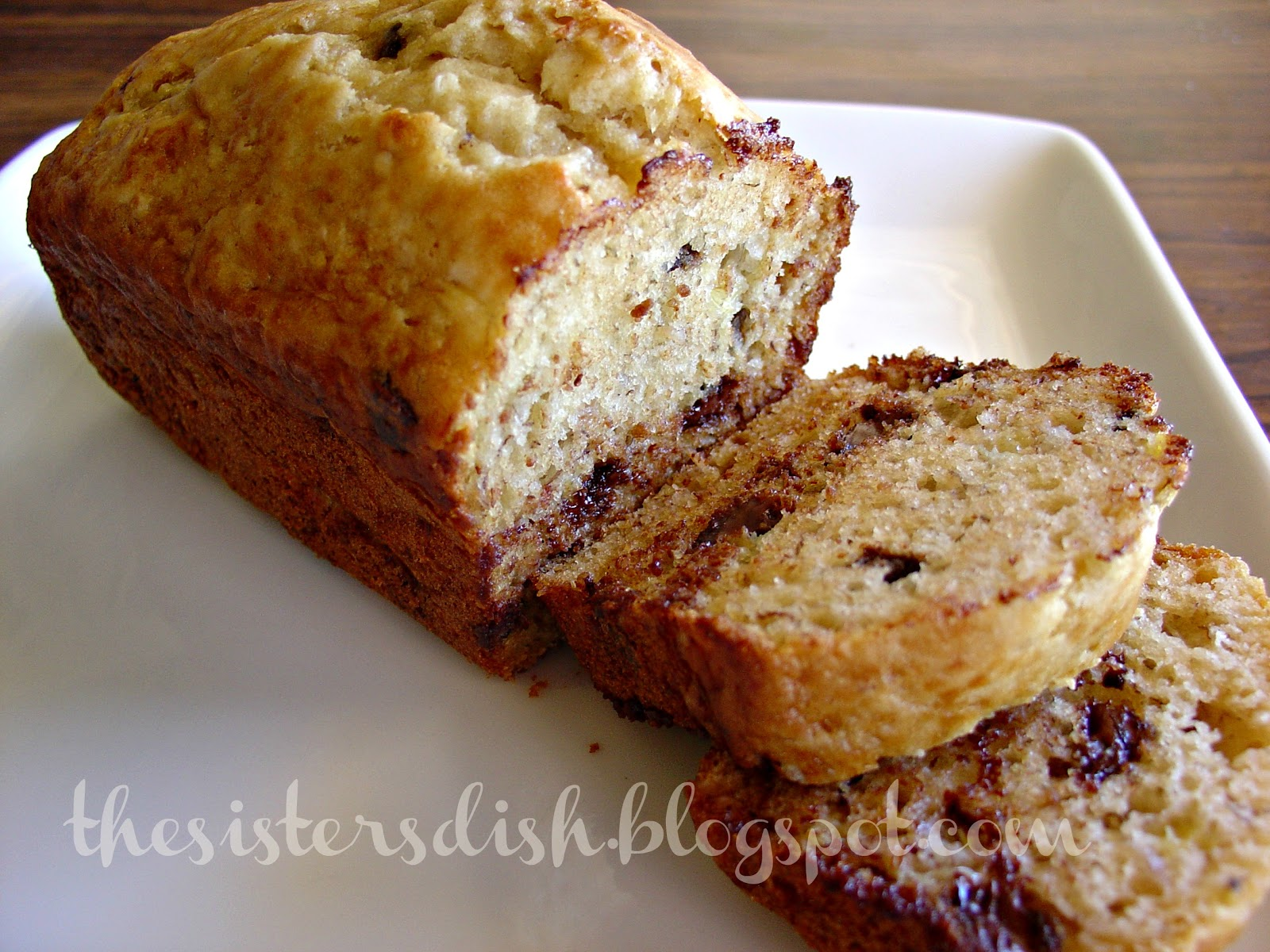 The Sisters Dish: Applesauce Banana Bread