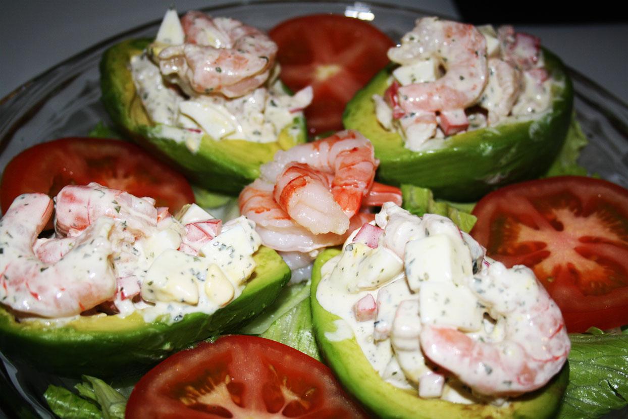 Cooking in the Desert: Shrimp Stuffed Avocado