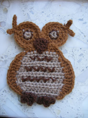 crafts for halloween: 2d owl free crochet pattern and tutorial