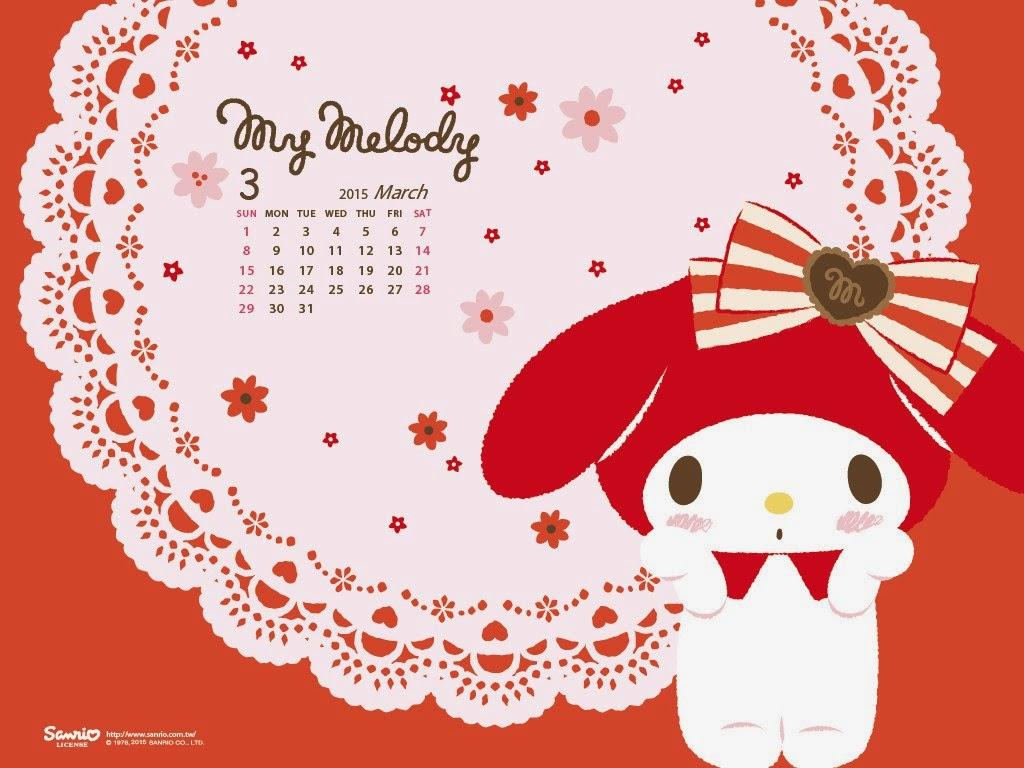 I Love Kawaii March 2015 Calendar From Sanrio