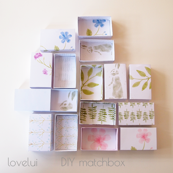 DIY Matchbox Wedding Favor