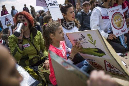 Marchas contra Monsanto por todo el mundo el 25 de Mayo 2013 Monsanto+Francia