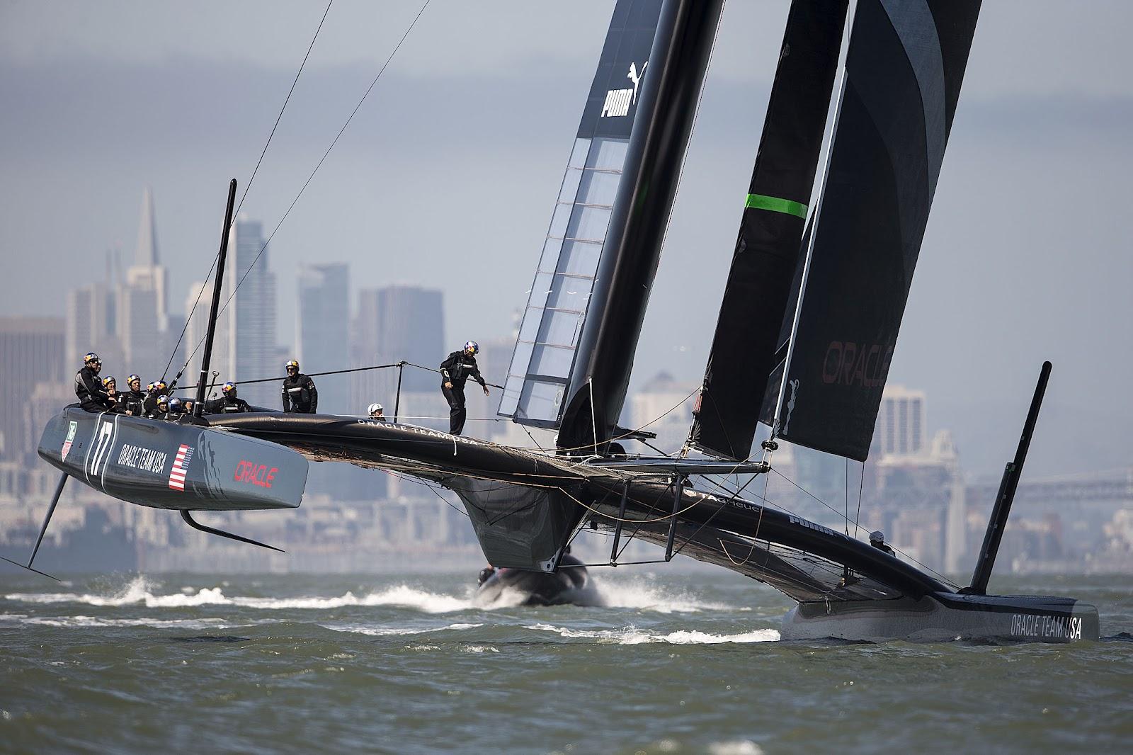 AC34: Oracle AC72 Back on Track   Catamaran Racing, News ...