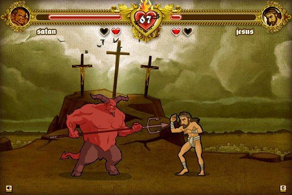 bible fight, peleas biblicas, Jesús, Satanás