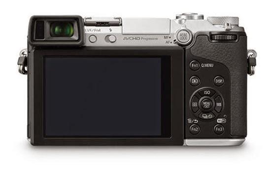 Fotografia del dorso della Panasonic GX7
