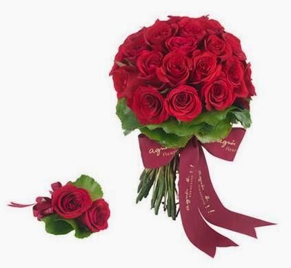 Agnes b紅玫瑰花球是最受歡迎之一的花球