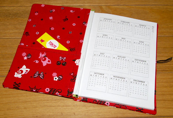 making fabric cover diary