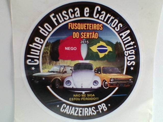 CLUBE  DOS FUSCAS E CARROS ANTIGOS  DE CAJAZEIRAS  PB