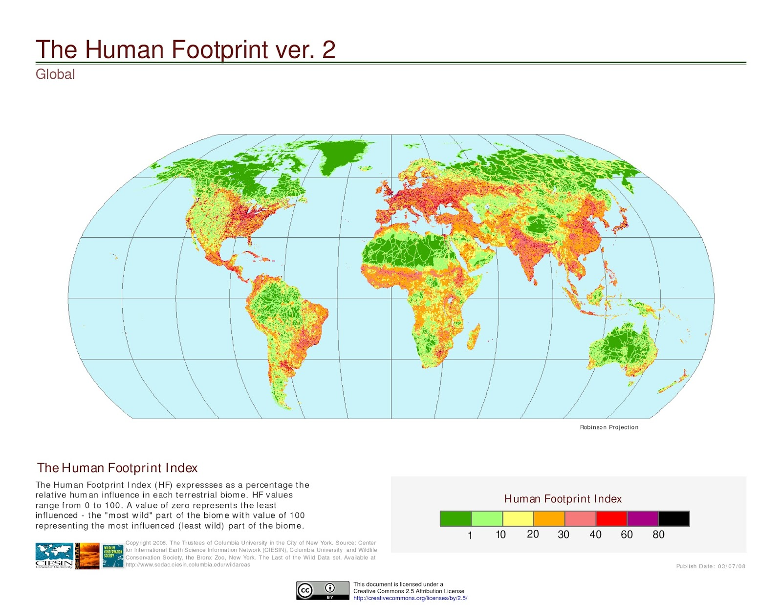 The Human Footprint Index
