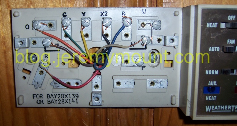 Programmable Honeywell thermostat replacement for a Trane WeatherTron with auxillary/emergency heat : honeywell mercury thermostat wiring - yogabreezes.com