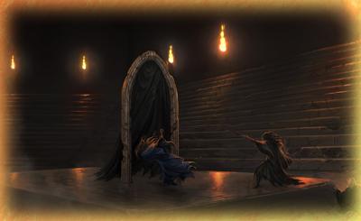 L'Arco di Pietra col Velo Nero, in un Momento di Pottermore