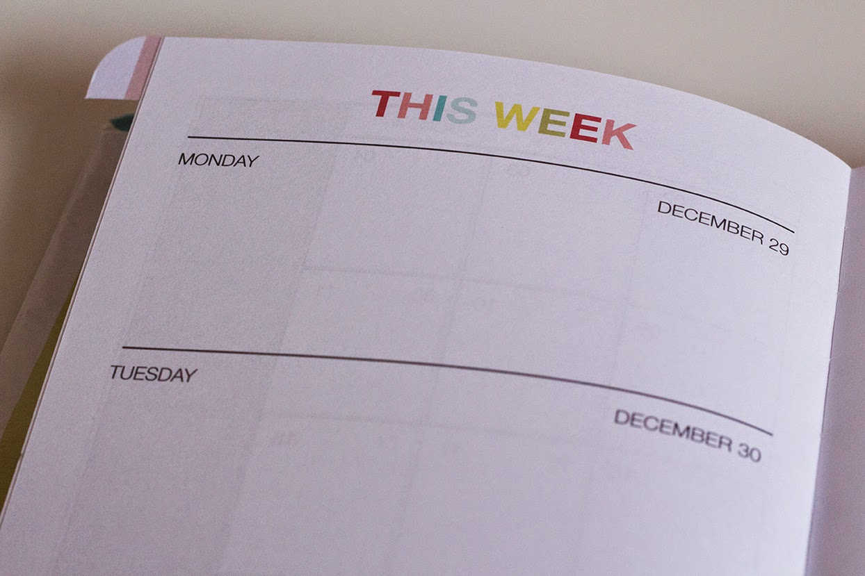 planner 2015: weekly overview