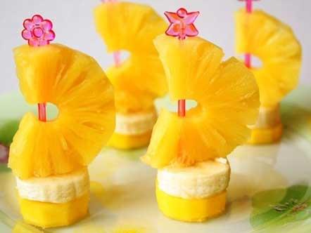 канапе ананас банан