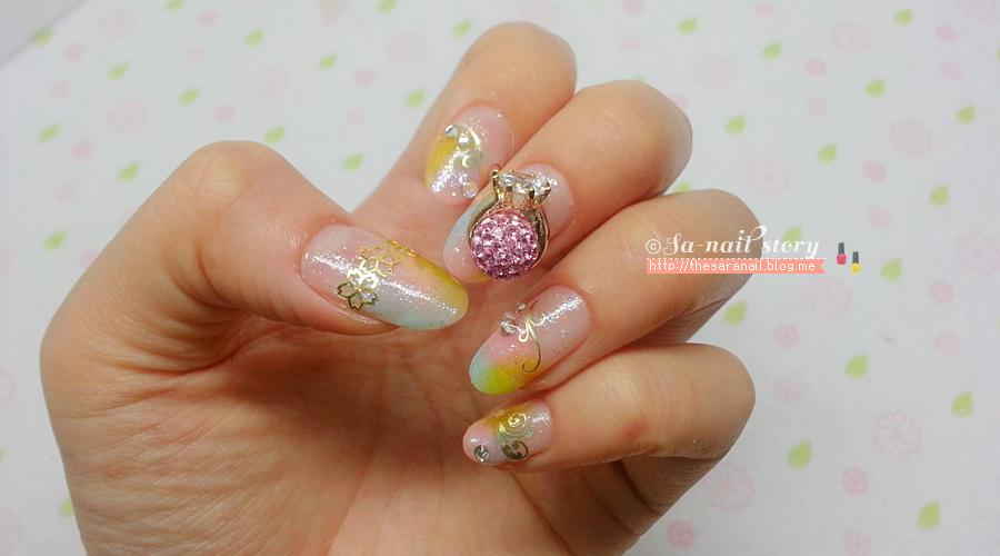SARA NAIL: Girlish wedding day nail art, nail sticker, ring nail part
